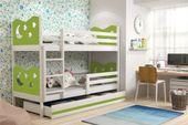Łóżko dziecięce MIKO dla dzieci 190x80 piętrowe meble + MATERACE