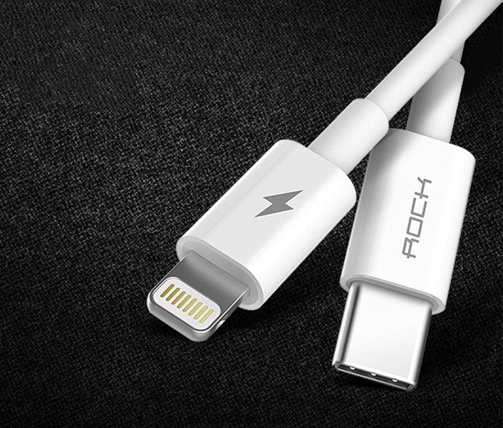 ROCK Ładowarka USB-C Quick Charge + KABEL IPHONE 7 8 X iPad zdjęcie 8