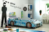 Łóżko dziecięce parterowe AUTO 160x80 CARS - SPEED