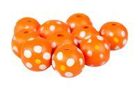 DREWNIANE koraliki kula 12mm pomarańcz 10szt.