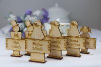 Winietki na stół z grawerem winietka na stolik weselny dekoracja ślubu