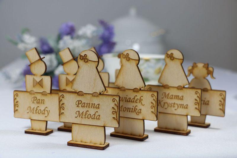 Winietki na stół z grawerem winietka na stolik weselny dekoracja ślubu na Arena.pl