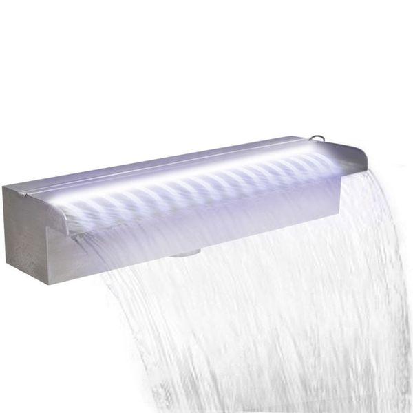 Fontanna Basenowa Led 45cm Oświetlenie Led Srebrna Do Ogrodu Oczka Wodnego Basenu