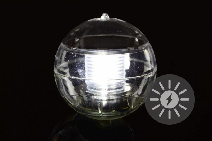Lampa solarna biała LED, lampion ogrodowy w kształcie kuli zdjęcie 6