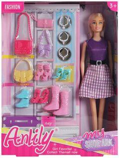 Lalka ANLILY + Kolekcja Butów BLOND