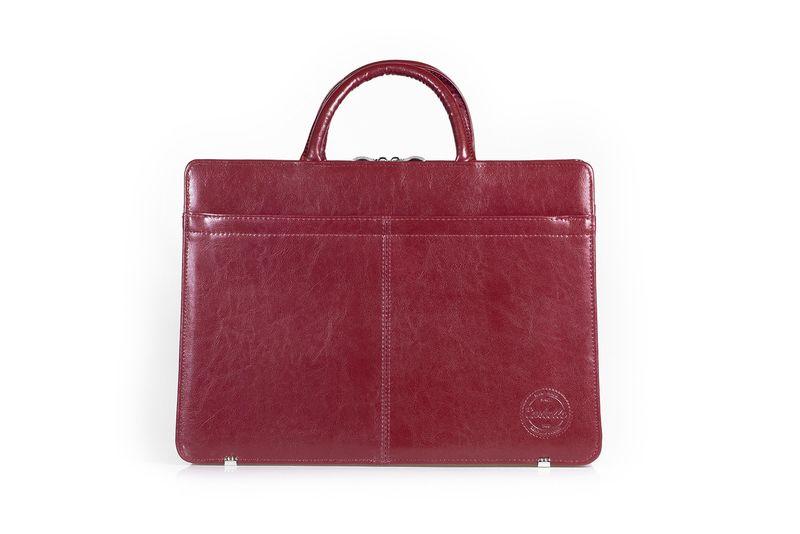 e30ccbd244cdb Skórzana torba damska na laptopa Cartello Maria 01 Kolor - Wiśniowy zdjęcie  1