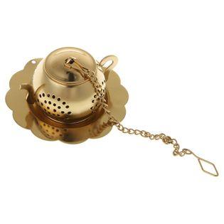 Zaparzacz do herbaty - mini czajniczek na herbatę - stalowy Złoty