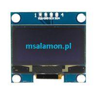 """Wyświetlacz OLED 1,3"""" I2C Niebieski dla Arduino STM32"""
