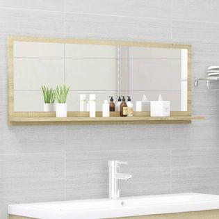 Lumarko Lustro łazienkowe, dąb sonoma, 100x10,5x37 cm, płyta wiórowa