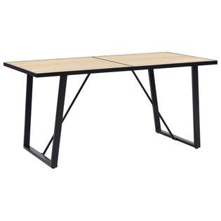 Stół jadalniany, dębowy, 140 x 70 x 75 cm, MDF