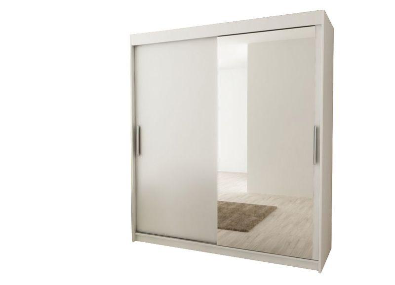 Szafa przesuwna biała JARO 180 lustro RIBES zdjęcie 1