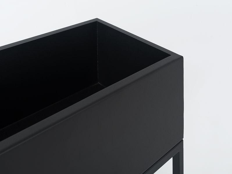 Donica metalowa FIORINA 100x30x60 - czarny zdjęcie 4