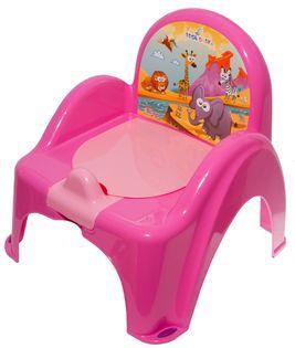 TEGA PO-041-127 Nocnik krzesełko z pozytywką SAFARI c.róż