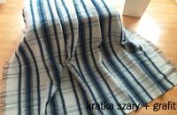 koc z wełny owczej, wełniany polski gruby 155cm x 200cm, pled narzuta