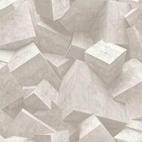 Tapeta Kamień Beton odcienie szarości Efekt 3D L50507 Ugepa