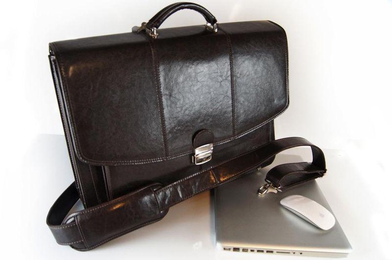 da5613a001fc1 Elegancka torba męska na laptopa 17'' z paskiem na ramię Francesko 03 ...