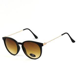Okulary przeciwsłoneczne damskie kocie czarnozłote