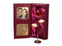 Kryształ RÓŻA prezent na 1-99 LAT urodziny GRAWER