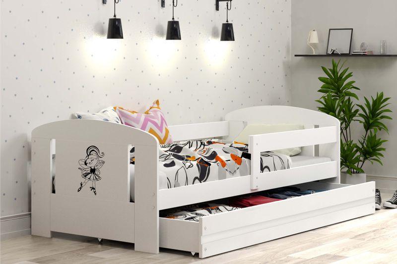Łóżko pojedyncze FILIP 160x80 dla dzieci + SZUFLADA + BARIERKA zdjęcie 3