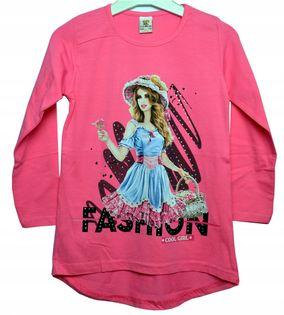 Bluzka Fashion róż, bawełna roz.140