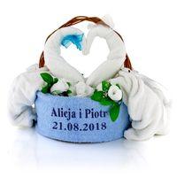 Komplet ręczników z haftem PREZENT rocznica ŚLUB