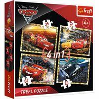 PUZZLE 4W1 CARS 3 GOTOWI DO WYŚCIGU TREFL 34276