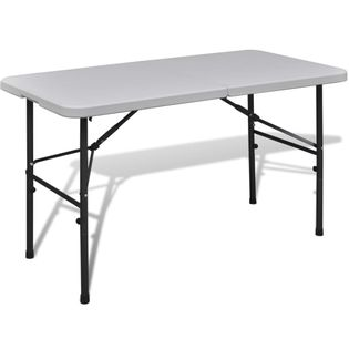 Lumarko Stół kempingowy biały (122 cm) wykonany z HDPE!