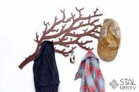 Gałązka #1 | Wieszak na ubrania | Gałąź Krzaczek z METALU solidny HIT