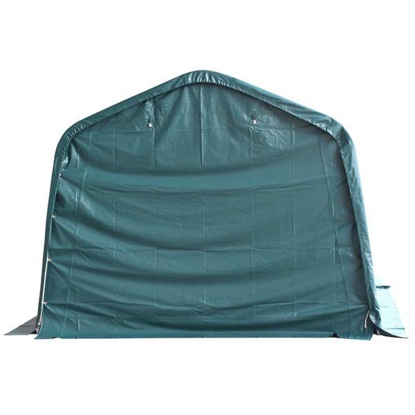 Przenośny namiot dla bydła, PVC, 3,3 x 12,8 m, ciemnozielony zdjęcie 5