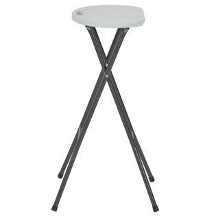 Lumarko Składane stołki barowe, 2 szt., HDPE i stal, białe!