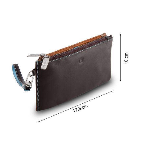 Skórzany portfel damski DuDu®, saszetka 534-1180 ciemny brąz na Arena.pl