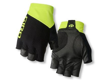 Rękawiczki męskie GIRO ZERO CS krótki palec black highlight yellow roz. M (obwód dłoni 203-229 mm / dł. dłoni 181-188 mm)