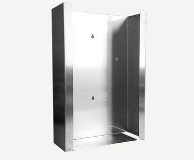Podajnik (dozownik) na rękawice – potrójny INOX, gł. 6 cm, zag. 4 cm