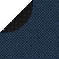 Pływająca folia solarna z PE na basen, 417 cm, czarno-niebieska
