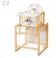 KLUPŚ Krzesełko dla dzieci AGA C2  SOSNA do karmienia i zabawy