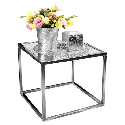 Stolik ława Szklana Stół Kawowy Hartowany 50x50 Glamour 19 1