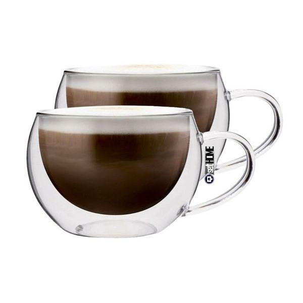 Szklanki Termiczne z Podwójną Ścianką Kawy Cappuccino 300ml 2 sztuki zdjęcie 1