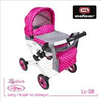 ADBOR Super Wózek lalkowy głęboki dla lalek LILY kolor 08
