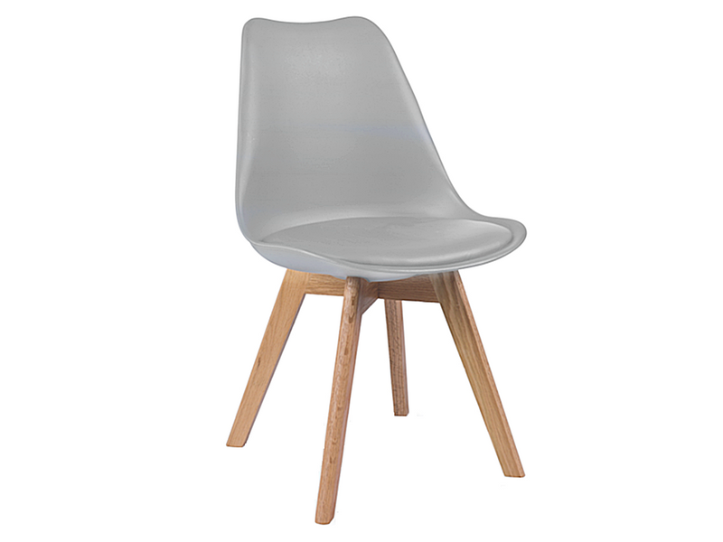 Nowoczesne krzesło JASNOSZARE/BUK skandynawskie DSW RETRO KRIS LUGANO zdjęcie 1