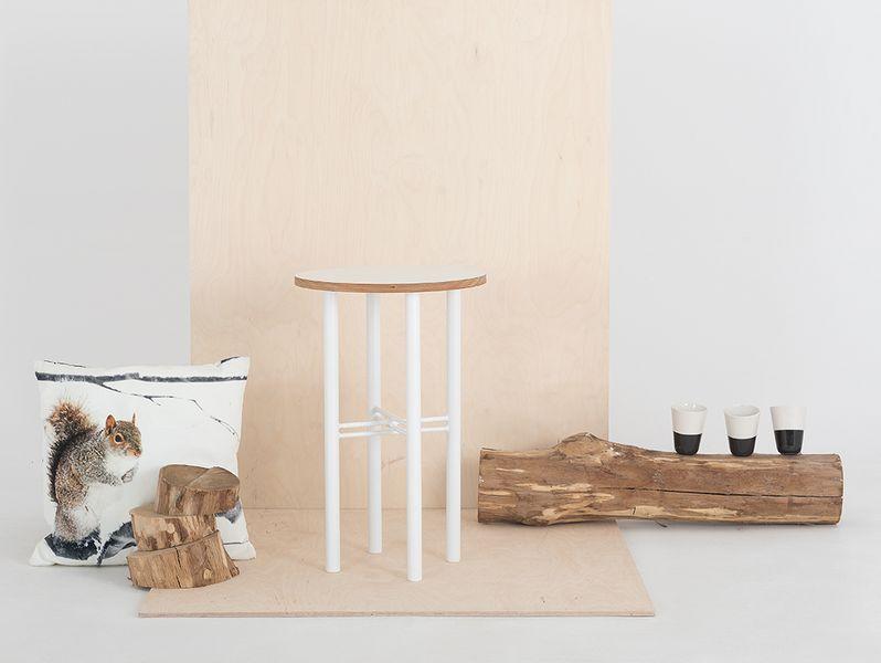 Stolik PENTO 40 - biały, biały, styl design skandynawski, kwietnik zdjęcie 4