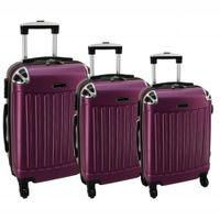 Zestaw 3 walizek PELLUCCI RGL 735 Śliwkowe