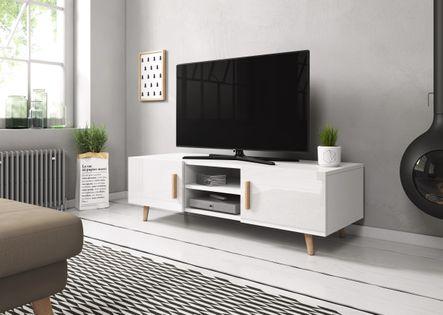 Nowoczesna szafka RTV DOMI 2 w stylu skandynawskim