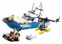 Klocki Sluban Policja: motorówka policyjna, helikopter 347 el.