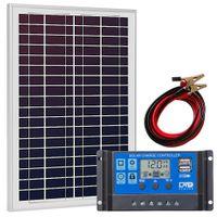 Zestaw solarny 30W 12V regulator USB