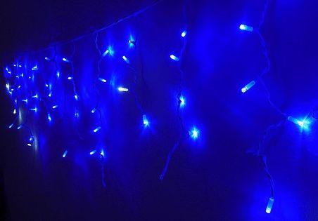 Girlanda 16 niebeskich skrzących sopli 3,5m, zewnętrzne lampki choinkowe