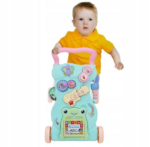 Interaktywny Chodzik Jeździk Pchacz Edukacyjny 4w1 Dla Dzieci Y106 zdjęcie 7