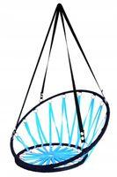Huśtawka Bocianie Gniazdo z Oparciem Niebieskie