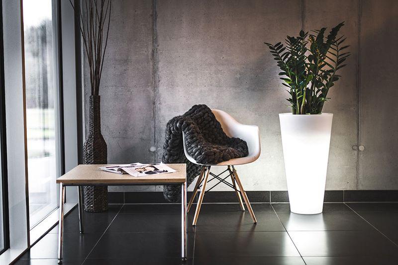 Donica Doniczka Led Podświetlana 75cm Na Zewnątrz Do Kwiatów Drzewek Choinki Hotelu Biura Domu Ogrodu Holu Werandę
