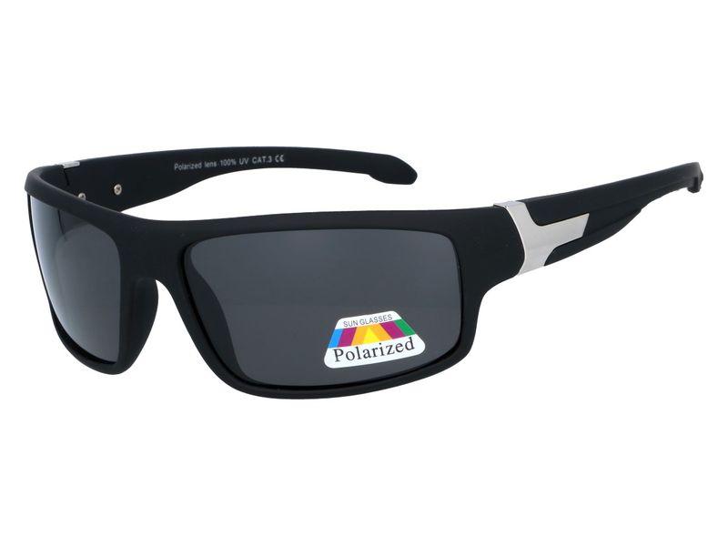 Męskie okulary polaryzacyjne czarne ACHILL | BORN86.pl