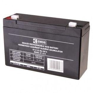 Akumulator AGM 6V 12Ah faston 4,7